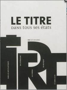 Le Titre dans tous ses états,  Zoé Vayssières, Archibooks, 2013 (Couverture)