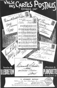 """""""Valse des cartes postales"""", une chanson vers 1910"""