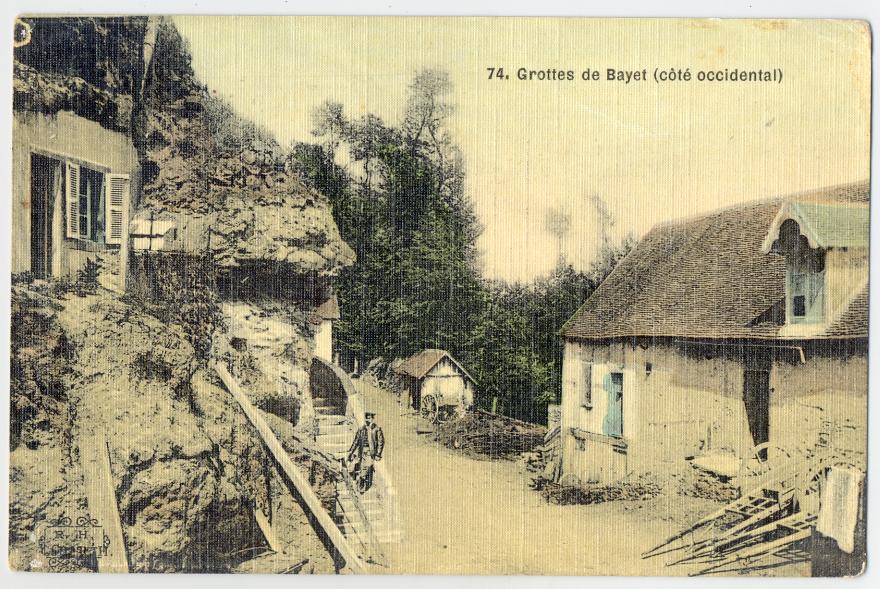 Carte postale – 1917 – Grottes de Bayet (col. particulière)