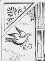 Emmanuel Destouches et L.T. Bonnard, Nouveau et Galant Petit Secrétaire des amants…, Meulan, 1844 (dessin de Brigitte Parent d'après l'original)
